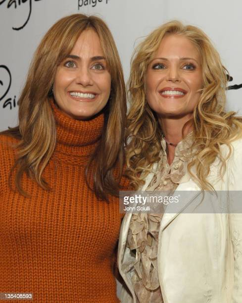Diane Farr and Paige Adams Geller during Paige Premium Denim Party Red Carpet and Inside at Paige Premium Denim Flagship Store in Beverly Hills...