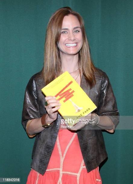 Diane Farr promotes her new book 'Kissing Outside the Lines' at Barnes Noble Tribeca on July 6 2011 in New York City