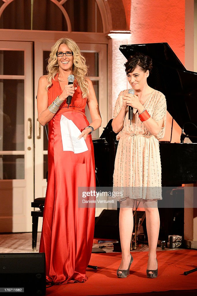 Diane Fleri and Tiziana Rocca attend Taormina Filmfest and Prince Albert II Of Monaco Foundation Gala Dinner at on June 16, 2013 in Taormina, Italy.
