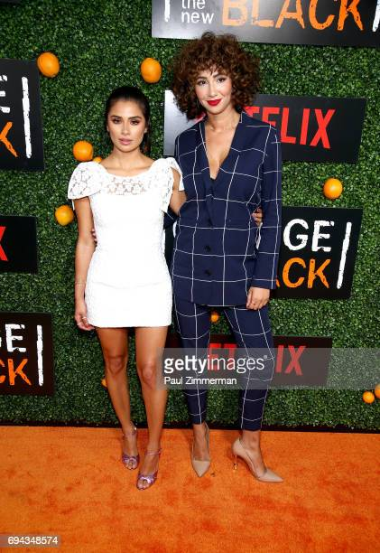 Diane Guerrero and Jackie Cruz attend the 'Orange Is The New Black' Season 5 Celebration at Catch on June 9 2017 in New York City