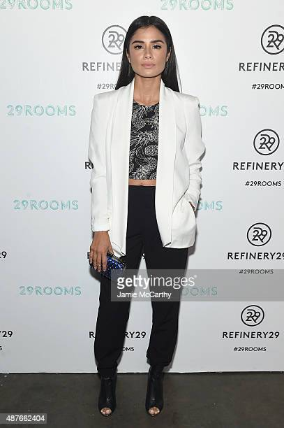 Diane Guerrero attends the Refinery29 presentation of 29Rooms a celebration of style and culture during NYFW 2015 on September 10 2015 in Brooklyn...