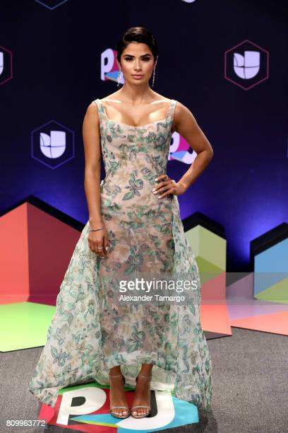 Diane Guerrero attends the Univision's 'Premios Juventud' 2017 Celebrates The Hottest Musical Artists And Young Latinos ChangeMakers at Watsco Center...