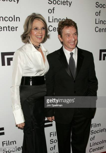 Diane Keaton and Martin Short during Film Society of Lincoln Center's 34th Annual Gala Tribute to Diane Keaton Greenroom