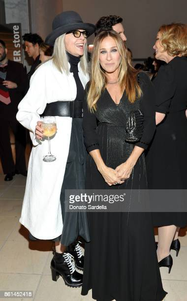 Diane Keaton and Sarah Jessica Parker at the Hammer Museum 15th Annual Gala in the Garden with Generous Support from Bottega Veneta on October 14...
