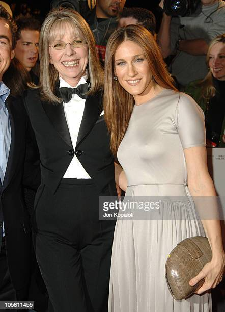 Diane Keaton and Sarah Jessica Parker during 'The Family Stone' Los Angeles Premiere Arrivals at Mann Village Theater in Westwood California United...