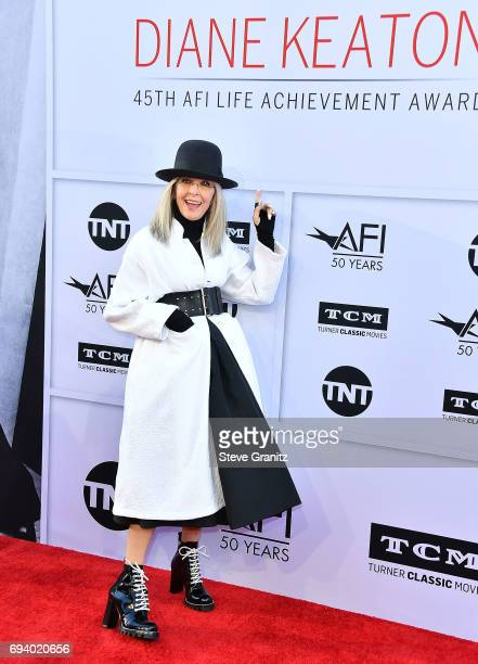 Diane Keaton arrives at the AFI Life Achievement Award Gala Tribute To Diane Keaton on June 8 2017 in Hollywood California