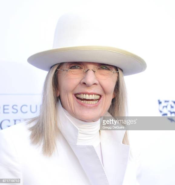 Diane Keaton arrives at the Humane Society Of The United States' Annual To The Rescue Los Angeles Benefit at Paramount Studios on April 22 2017 in...