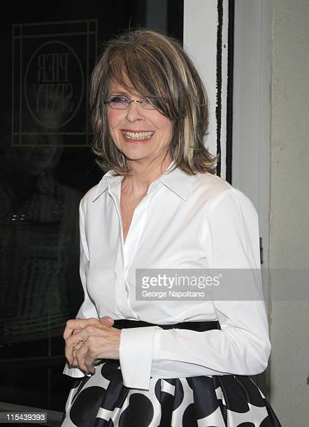 Diane Keaton arrives at the International Center Of Photography 24th Annual Infinity Awards on May 12 2008 at Pier Sixty Chelsea Piers in New York...