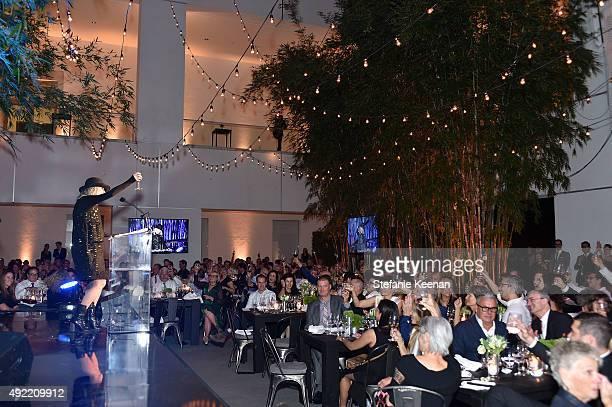 Diane Keaton attends Hammer Museum's 'Gala in the Garden' Sponsored by Bottega Veneta at Hammer Museum on October 10 2015 in Westwood California
