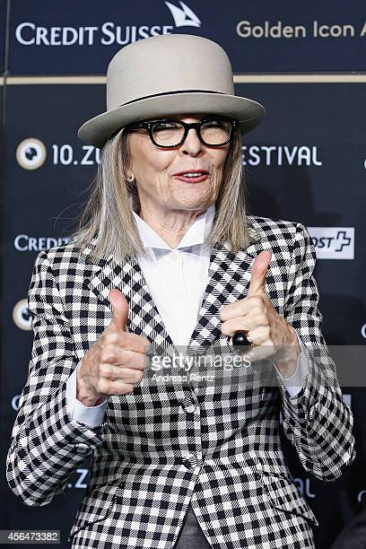 Diane Keaton attends the 'And so it goes' Green Carpet Arrivals during Day 7 of Zurich Film Festival 2014 on October 1 2014 in Zurich Switzerland