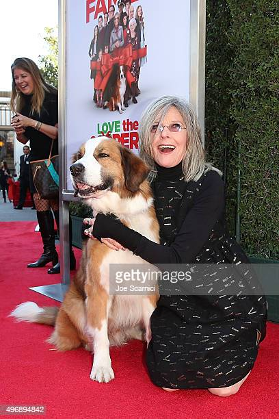 Diane Keaton attends the 'Love The Coopers' Holiday Luncheon Benefiting The LA Regional Food Bank at The Grove on November 12 2015 in Los Angeles...
