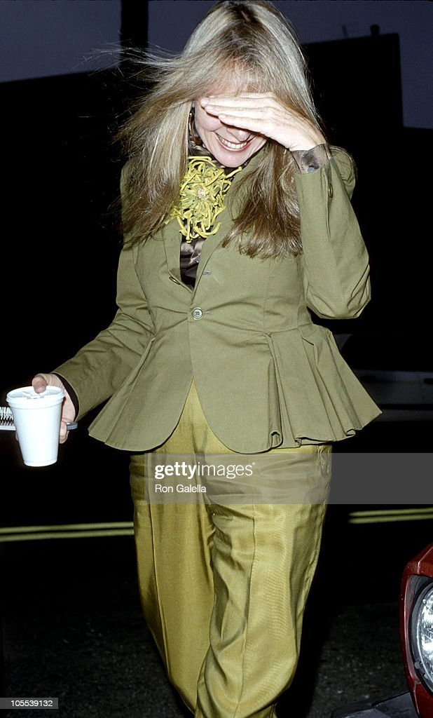 Diane Keaton during Screening of Dick Tracy - June 8, 1990 at Director's Guild in Hollywood, California, United States.