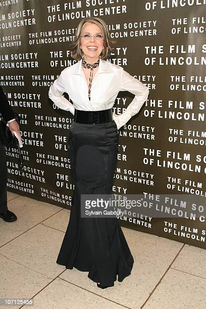 Diane Keaton during The Film Society Of Lincoln Center 34th Gala Tribute to Diane Keaton Red Carpet Arrivals at Avery Fisher Hall at Lincoln Center...