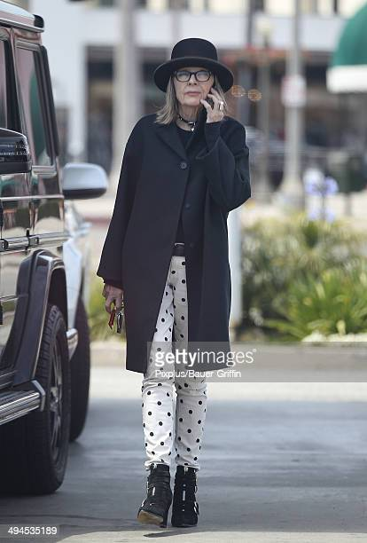 Diane Keaton is seen on May 29 2014 in Los Angeles California