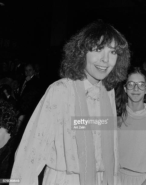 Diane Keaton wearing a flowered blouse and scarf circa 1970 New York