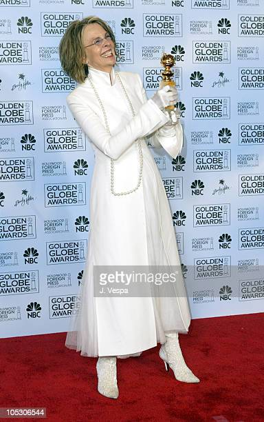 Diane Keaton winner of Best Performance by an Actress in a Motion PictureMusical or Comedy 'Something's Gotta Give'
