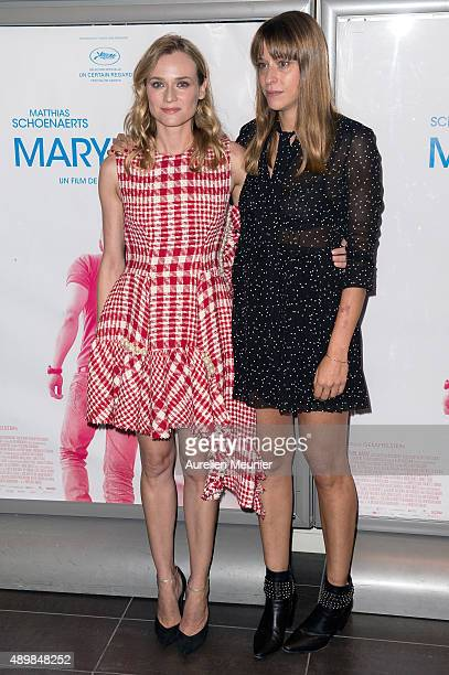 Diane Kruger and Alice Winocour attend the 'Maryland' Paris premiere at Mk2 Bibliotheque on September 24 2015 in Paris France