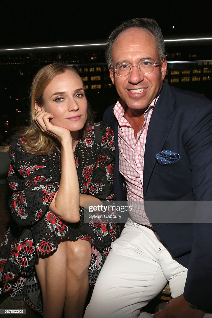 Diane Kruger and Andrew Saffir attend The Cinema Society Chopard with Line 39 and Qui Host the After Party for IFC Films' 'Disorder' at The Jimmy at...