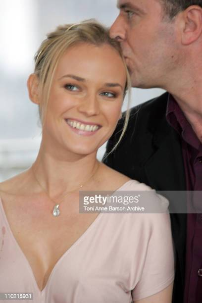 Diane Kruger and Christian Carion during 2005 Cannes Film Festival 'Joyeaux Noel' Photocall at Palais de Festivals in Cannes France