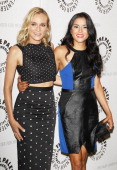 Diane Kruger and Emily Rios arrive at premiere screening of FX's 'The Bridge' held at The Paley Center for Media on June 24 2014 in Beverly Hills...