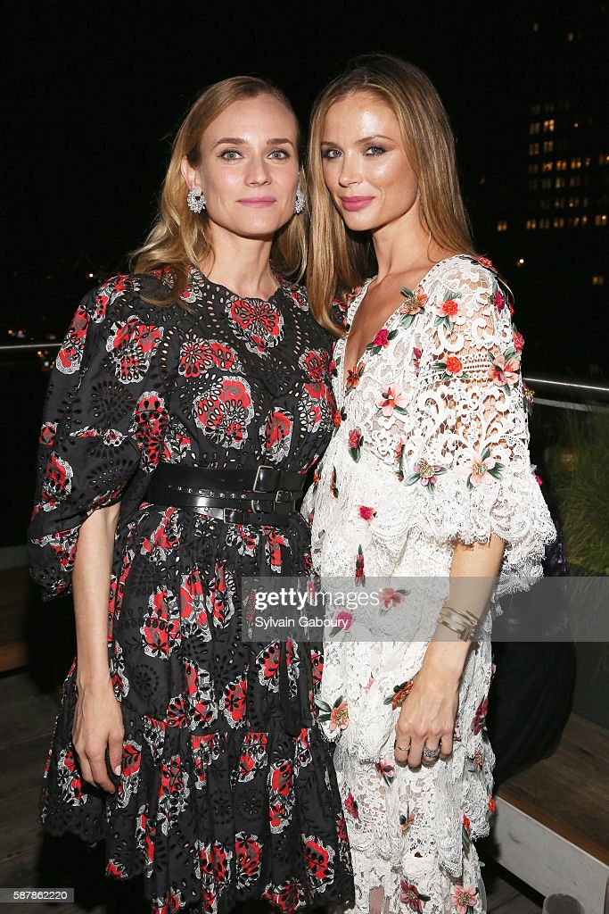 Diane Kruger and Georgina Chapman attend The Cinema Society Chopard with Line 39 and Qui Host the After Party for IFC Films' 'Disorder' at The Jimmy...