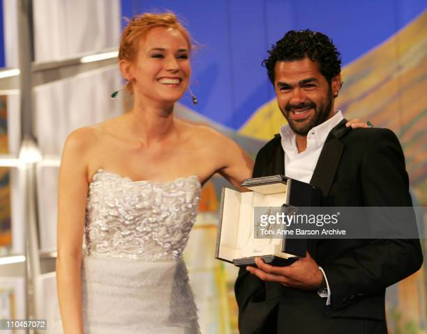 Diane Kruger and Jamel Debbouze during 2006 Cannes Film Festival Palme D'Or Ceremony at Palais des Festivals in Cannes Cannes France