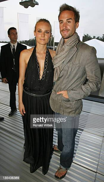 Diane Kruger and Joseph Fiennes during Hugo Boss Fashion Show with Team McLaren Mercedes in Hockenheim Germany