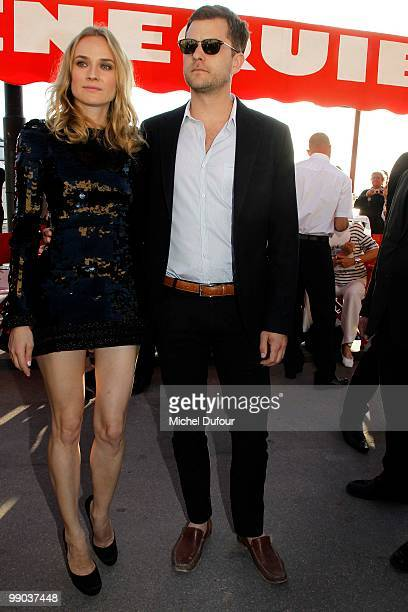 Diane Kruger and Joshua Jackson attend the Chanel Cruise Collection Presentation on May 11 2010 in SaintTropez France