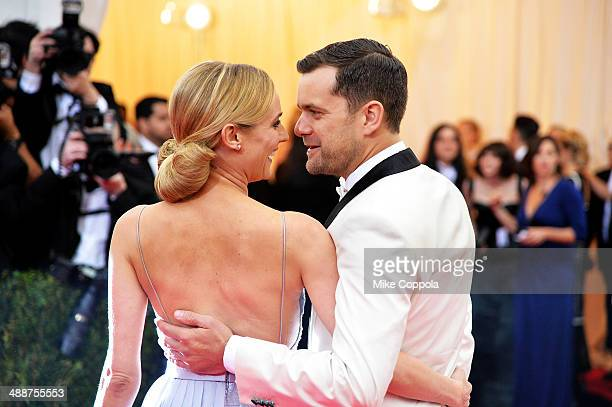 Diane Kruger and Joshua Jackson attend the 'Charles James Beyond Fashion' Costume Institute Gala at the Metropolitan Museum of Art on May 5 2014 in...