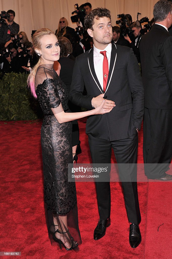 Diane Kruger and Joshua Jackson attend the Costume Institute Gala for the 'PUNK: Chaos to Couture' exhibition at the Metropolitan Museum of Art on May 6, 2013 in New York City.