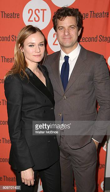 Diane Kruger and Joshua Jackson attend the OffBroadway Opening After Party for 'Smart People' at the Four at Yotel on February 11 2016 in New York...