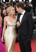 Diane Kruger and Joshua Jackson attend the 'Sleeping Beauty' Premiere during the 64th Annual Cannes Film Festival at the Palais des Festivals on May...