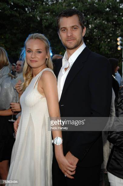 Diane Kruger and Joshua Jackson attends the Serpentine Gallery Summer Party 2007 held at the Serpentine Gallery Hyde Park on July 11 2007 in London