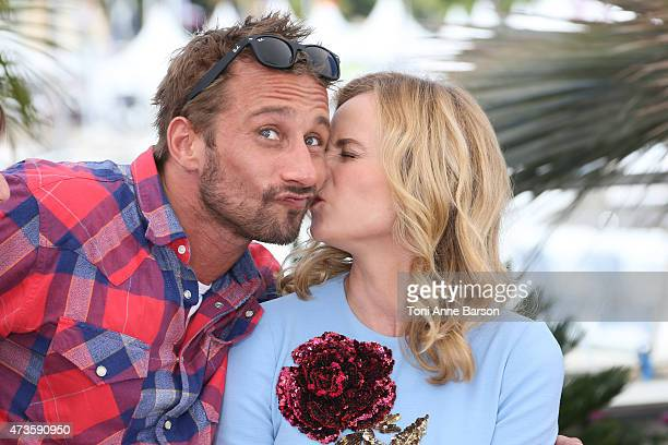 Diane Kruger and Matthias Schoenaerts attend the 'Disorder' photocall during the 68th annual Cannes Film Festival on May 16 2015 in Cannes France