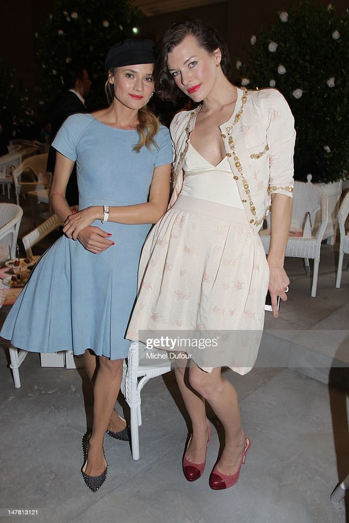 <a gi-track='captionPersonalityLinkClicked' href=/galleries/search?phrase=Diane+Kruger&family=editorial&specificpeople=202640 ng-click='$event.stopPropagation()'>Diane Kruger</a> and Milla Jovovitch attend the Chanel Haute-Couture Show as part of Paris Fashion Week Fall / Winter 2013 at Grand Palais on July 3, 2012 in Paris, France.