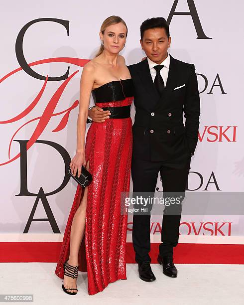 Diane Kruger and Prabal Gurung attend the 2015 CFDA Awards at Alice Tully Hall at Lincoln Center on June 1 2015 in New York City
