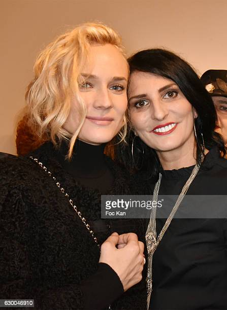Diane Kruger and Sylvie Ortega Munoz attend 'Norman Reedus' Photo Exhibition around his book 'The Sun's Coming Up Like a Big Bald Head' at Galerie...