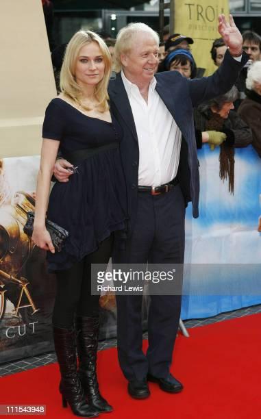Diane Kruger and Wolfgang Petersen director during 57th Berlinale International Film Festival 'Troy Directors Cut' Premiere in Berlin Germany