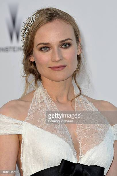Diane Kruger arrives at amfAR's Cinema Against AIDS 2010 benefit gala at the Hotel du Cap on May 20 2010 in Antibes France