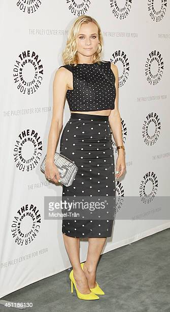 Diane Kruger arrives at premiere screening of FX's 'The Bridge' held at The Paley Center for Media on June 24 2014 in Beverly Hills California