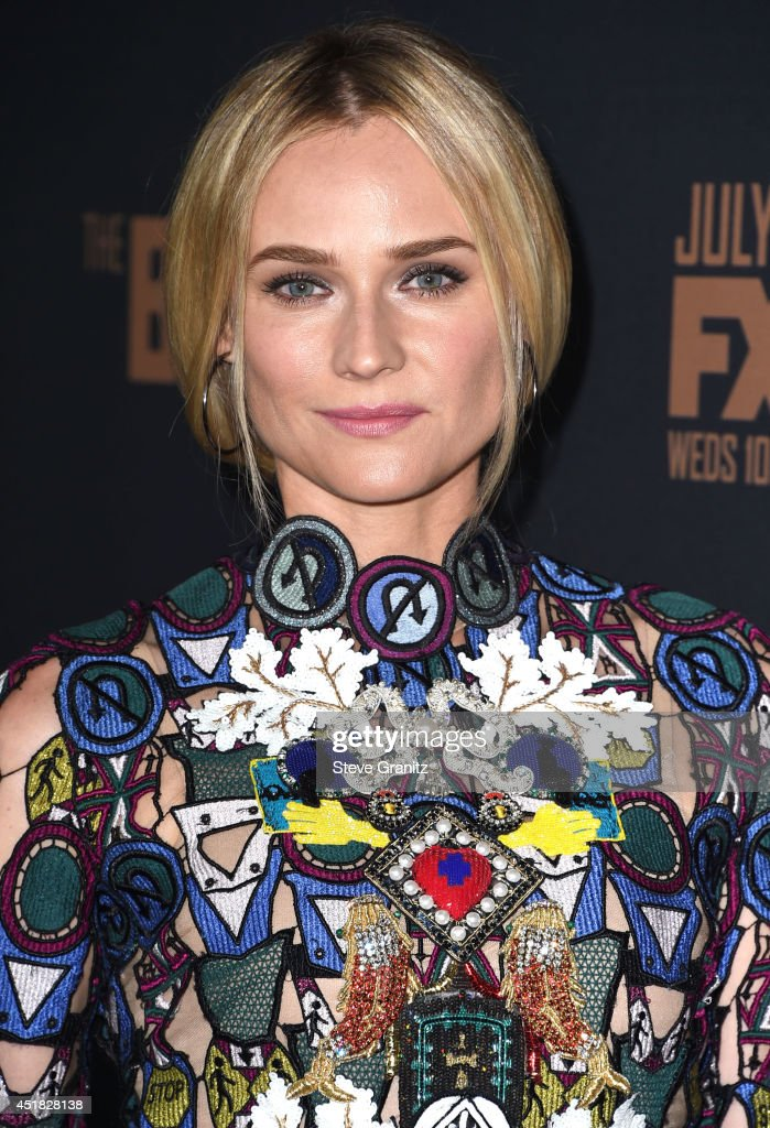 <a gi-track='captionPersonalityLinkClicked' href=/galleries/search?phrase=Diane+Kruger&family=editorial&specificpeople=202640 ng-click='$event.stopPropagation()'>Diane Kruger</a> arrives at the FX's 'The Bridge' Season 2 Premiere at Pacific Design Center on July 7, 2014 in West Hollywood, California.