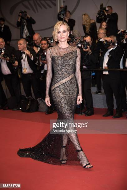 Diane Kruger arrives for the film In the Fade in competition at the 70th annual Cannes Film Festival in Cannes France on May 26 2017