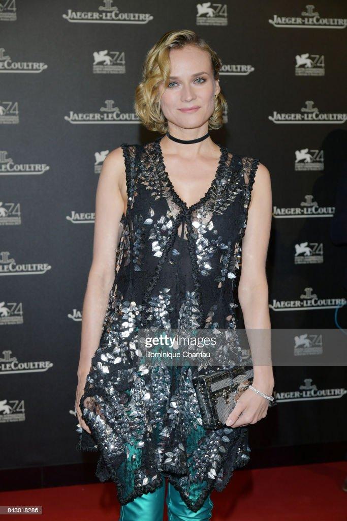 Diane Kruger arrives for the Jaeger-LeCoultre Gala Dinner during the 74th Venice International Film Festival at Arsenale on September 5, 2017 in Venice, Italy.
