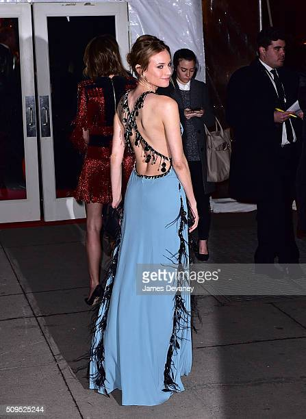 Diane Kruger arrives to 2016 amfAR New York Gala at Cipriani Wall Street on February 10 2016 in New York City
