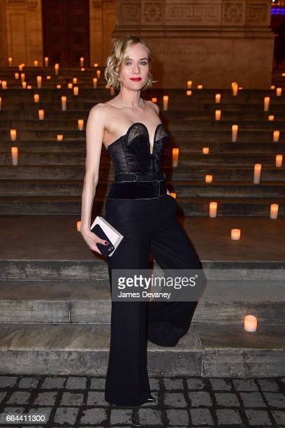 Diane Kruger arrives to the Montblanc UNICEF Gala Dinner at the New York Public Library on April 3 2017 in New York City