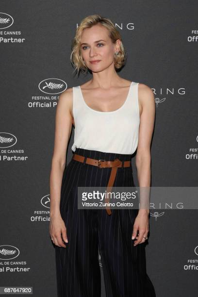 Diane Kruger attends Kering Talks Women In Motion photocall At The 70th Cannes Film Festival at Hotel Majestic on May 24 2017 in Cannes France