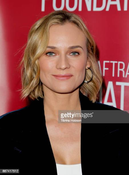 Diane Kruger attends SAGAFTRA Foundation's conversations and screening of 'In The Fade' at SAGAFTRA Foundation screening room on December 6 2017 in...