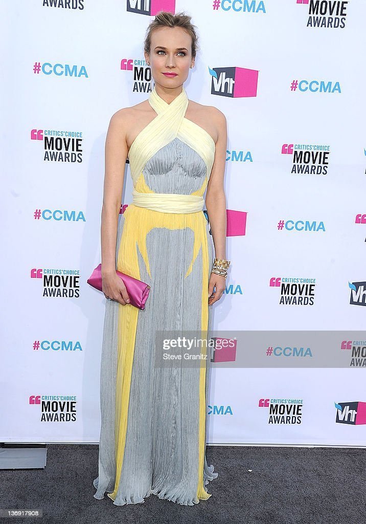 Diane Kruger attends the 17th Annual Critics Choice Movie Awards at Hollywood Palladium on January 12 2012 in Hollywood California