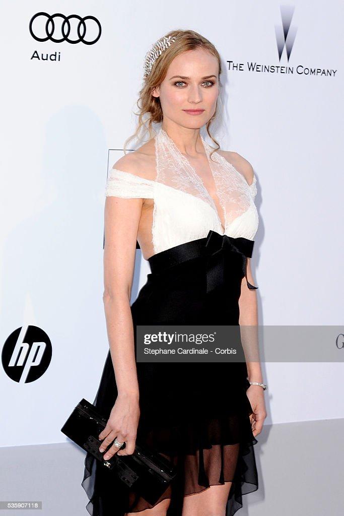 Diane Kruger attends the '2010 amfAR's Cinema Against AIDS' Gala.