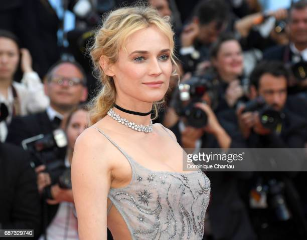 Diane Kruger attends the 70th Anniversary screening during the 70th annual Cannes Film Festival at Palais des Festivals on May 23 2017 in Cannes...